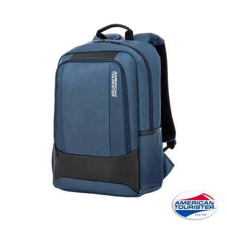 AT美國旅行者Kamden II極簡彈性背帶筆電後背包(海軍藍)