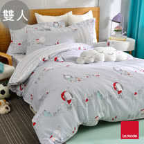 La mode寢飾 魔法少女精梳棉兩用被床包組(雙人)