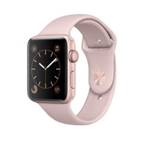 Apple Watch Series 2 智慧型手錶 (42mm) /A,42公釐玫瑰金色鋁金屬錶殼 搭配粉沙色運動型錶帶 (MQ142TA/A)