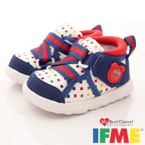 IFME健康機能鞋-Light輕量護踝款-770169白藍-(13cm-14.5cm)