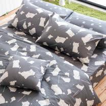 OLIVIA 《 湯姆貓 灰 》 特大雙人兩用被套床包四件組 童趣系列