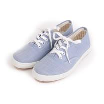 (女) GIOVANNI VALENTINO 素面綁帶休閒鞋 淺藍 女鞋 鞋全家福