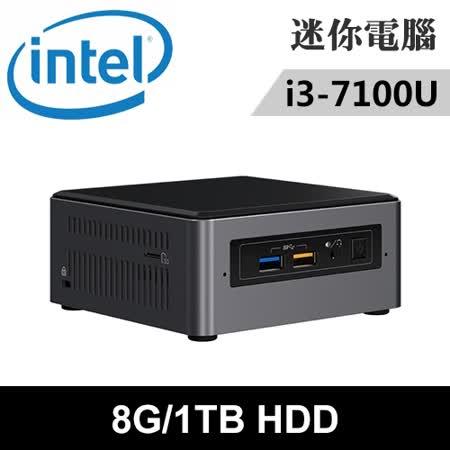 Intel NUC7i3BNH-081TN 特仕版 迷你電腦(i3-7100U/8G/1TB)