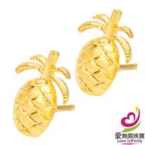 [ 愛無限珠寶金坊 ]  0.43 錢 一對 - 甜蜜蜜 - 黃金耳環-999.9