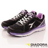 DIADORA義大利國寶鞋-動能彈力乳膠款-WR5510黑-女段-(24cm-25cm)