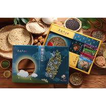 【泉利米香】米兔禮盒6盒(每盒包含:明月長生米香1包+綜合米香4包+米巧菓1盒+黑米兒1盒)(免運)