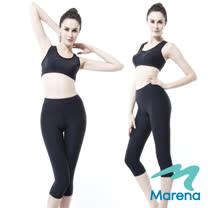 【美國原裝MARENA】魔力輕塑中腰七分塑身褲/顯瘦機能安全褲(黑 膚 白 三色)