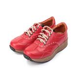 (女) ZOBR 牛皮縫線休閒鞋 紅 女鞋 鞋全家福