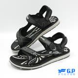 【G.P 男款時尚休閒兩用涼鞋】G7684M-10 黑色 (SIZE:40-44 共三色)