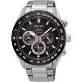 SEIKO精工 Criteria 太陽能計時手錶-黑/43mm V175-0EE0D(SSC579P1)