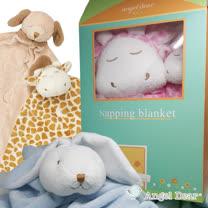 【2017全新組合】美國 Angel Dear 彌月小屋禮盒-毛毯+安撫巾-12種款式 (加碼送有機棉襪套)