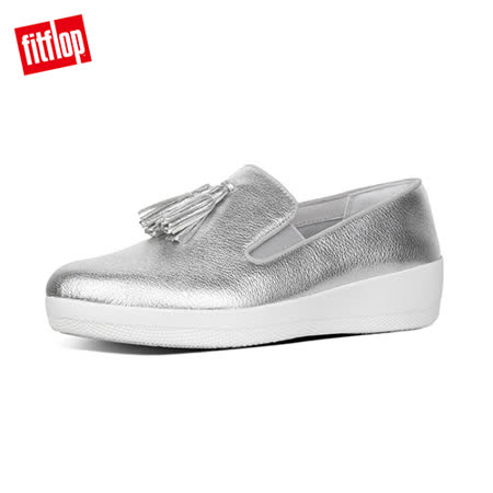 FitFlop - (女款)TASSEL SUPERSKATE LEATHER LOAFERS-銀色
