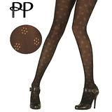 『摩達客』英國進口【Pretty Polly】小花圖紋彈性褲襪