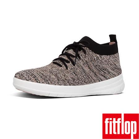 FitFlop™- (女款)UBERKNIT™ SLIP-ON HIGH TOP-黑/裸膚金