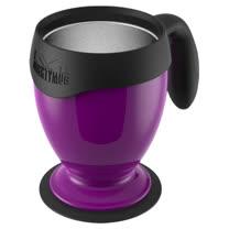 【吸奇不倒杯】桌上型雙層有蓋馬克杯-經典升級版(紫)