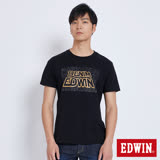 EDWIN 太空競賽銀河夜光短袖T恤-男-黑色