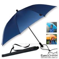 【德國 EuroSCHIRM】全世界最強的雨傘!SWING LITEFLEX 戶外專用直把傘(超輕量207g)/堅韌/附收納袋_W2L6 海軍藍