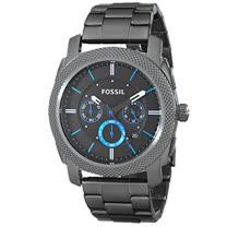 FOSSIL 黑鋼三眼計時碼錶防水男錶 (FS4931)