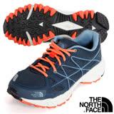 【美國 The North Face】女新款 低筒輕量跑步鞋.健行鞋/ultrATAC抓地輕型橡膠大底.ORTHOLITE抗菌舒適鞋墊/2Y9Y 墨藍/橙 N