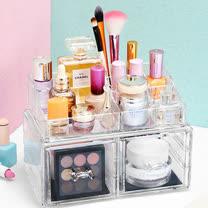 壓克力三層化妝品/彩妝/置物收納盒