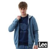 Lee 長袖連帽開襟外套-男款-藍