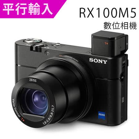 SONY DSC-RX100M5 大光圈類單眼輕巧數位相機*(中文平輸) - 加副電+相機包+讀卡機+相機清潔組+高透光保護貼
