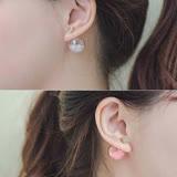 【PS Mall】氣泡透明彩珠前後雙面耳環 (G1908)