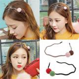【PS Mall】韓版雙色毛球甜美可愛波浪髮箍 (G2380)