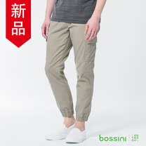 bossini男裝-休閒束口褲01卡其