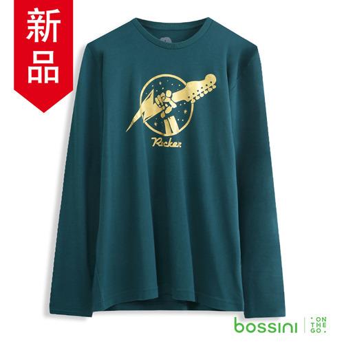 bossini男裝~印花長袖T恤01森綠