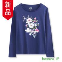bossini女裝-印花長袖T恤11海軍藍