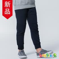 bossini男童-針織束口棉褲01海藍