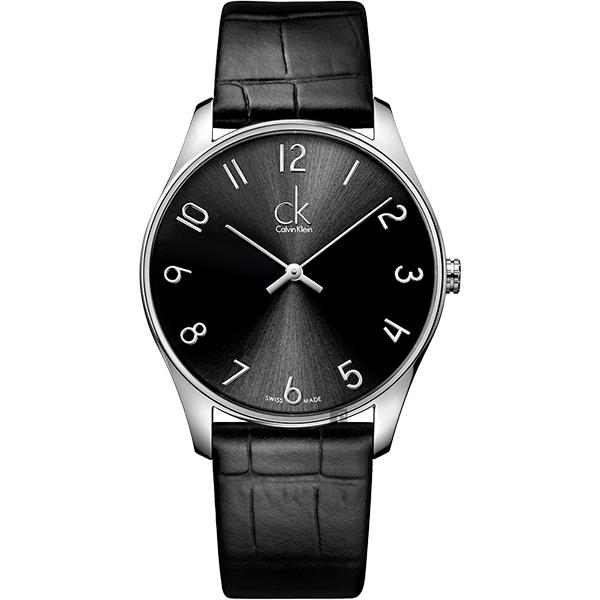 Calvin Klein CK Classic 極簡 手錶~黑 38mm K4D211CX