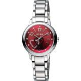 STAR 時代 愛戀雙心晶鑽甜蜜女錶-紅/30mm 7T1407-161S-R