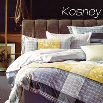《KOSNEY 安娜貝拉-咖》特大100%天絲TENCEL六件式兩用被床罩組