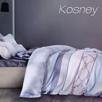 《KOSNEY 似水流年》特大100%天絲TENCEL六件式兩用被床罩組