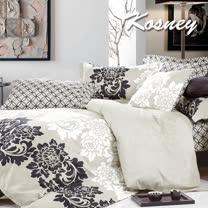 《KOSNEY 賽納城堡》加大精梳棉四件式兩用被床包組