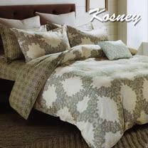 《KOSNEY  薩恩米思》特大精梳棉四件式兩用被床包組