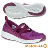 【美國 MERRELL】女新款 1SIX8 MJ AC + 輕量戶外透氣休閒鞋(GRIP耐磨抓地鞋底+Fresh抗菌防臭+Air Cushion避震氣墊)_J45704 紫