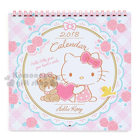 小禮堂<br>Hello Kitty 日製2018壁掛月曆