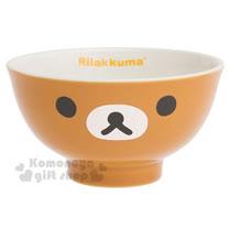 〔小禮堂〕拉拉熊 日製陶瓷碗《棕.大臉》金正陶器