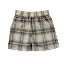 【愛的世界】SUPERMINI 快樂伙伴系列純棉鬆緊帶口袋格紋短褲/2~4歲-台灣製-