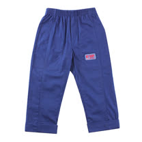 【愛的世界】SUPERMINI 戶外郊遊系列鬆緊帶雙邊口袋反折長褲/8~10歲-台灣製-