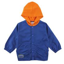 【愛的世界】SUPERMINI 戶外郊遊系列純棉束袖釘釦口袋連帽長袖外套/6~8歲-台灣製-
