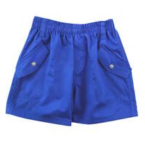 【愛的世界】SUPERMINI 戶外郊遊系列純棉鬆緊帶釘釦後口袋短褲/2~4歲-台灣製-