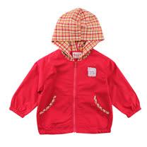 【愛的世界】SUPERMINI 快樂花園系列純棉半鬆緊帶口袋連帽長袖外套/1~2歲-台灣製-