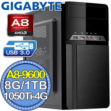 技嘉A320平台【火星使者】AMD APU 四核 GTX1050Ti-4G獨顯 1TB效能電腦