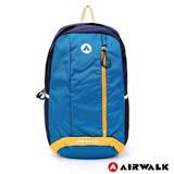 AIRWALK -青春主張休閒後背包-藍色