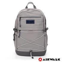 AIRWALK -  極簡自在 休閒大容量筆電後背包-灰