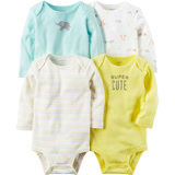 美國 Carter / Carter's 嬰幼兒長袖包屁衣四件組_動物樂園 (CTGB084)